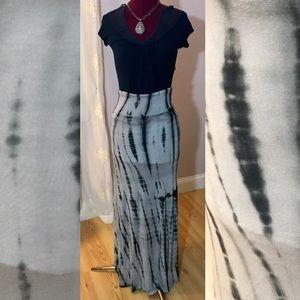 Very cool tie dye maxi skirt